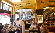 NEW YORK NYC Restaurant Balthazar serves traditional French fare from breakfast through supper every day, with brunch served on weekends.