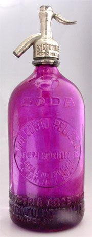 Love Seltzer bottles too... and it's purple.. yay!!   Available at TheSeltzershop.com
