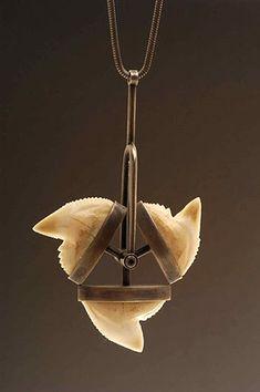 Teresa Milheiro Necklace, 2002 Silver and shark teeth