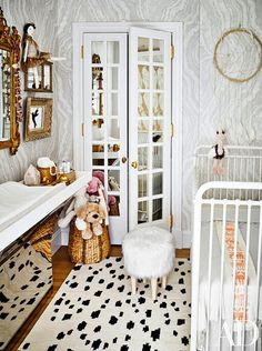 Beautiful.  Sophisticated, bold, and interesting.  Nurseries don't  have to be in primary colors only.