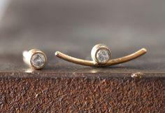 Arc Diamond Stud Earrings :: Alexis Russell