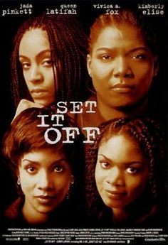 Official theatrical movie poster ( of for Set It Off Directed by F. Starring Jada Pinkett Smith, Queen Latifah, Vivica A. Set It Off Film, See Movie, Movie Tv, Movies Showing, Movies And Tv Shows, Laurence Anyways, 1990s Movies, Throwback Movies, African American Movies