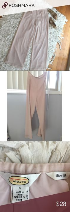 🎀NEW TALBOTS PURE SILK PINK TROUSERS🎀 Beautiful pure 100% silk pink wide leg trousers from Talbots. Size 4. Never worn. Mint condition. No trains or snags. Kept in a smoke and pet free environment. Taking all reasonable offers 🎀 Talbots Pants Trousers