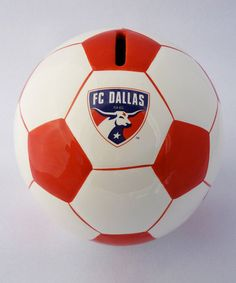 Little soccer stars can save up to buy gear and game tickets with the help of this soccer ball bank. Classically cool, this bank also offers a winning way to add a splash of sporty style to bedrooms. Fc Dallas, Game Tickets, Money Bank, Season Ticket, Soccer Stars, Soccer Ball, The Help, Sports, Fan