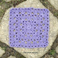 Simply Pretty square, free pattern from Dly's Hooks and Yarns.  Six-inch square with an 'I' hook.  #crochet #lacy #motif