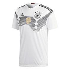 c97b56d639ab4 adidas Youth Germany World Cup 2018 Soccer Jersey (Home)   SoccerEvolution  Soccer Store
