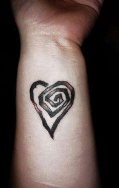 Spiral Heart tattoo