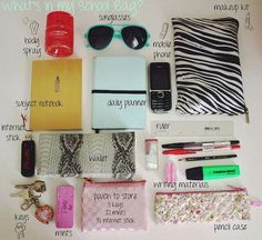 whats in my bag college - Google Search