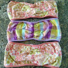Bandeau Cleavage Bikini Top NAMOTU in Ocean by MakaniDreamSwimwear ...