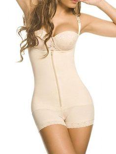 8df24f733 Camellias Women s Seamless Firm Control Shapewear Faja Open Bust Bodysuit  Body Shaper Black