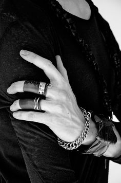 Lookbook – RW LONDON silver and leather rings                                                                                                                                                                                 More
