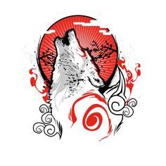 #Okami Amaterasu howling t-shirt.