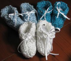 Really easy & Free crochet pattern for baby booties