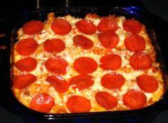 Delicious Pizza Pasta Casserole
