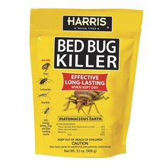 Diatomaceous Earth Bed Bug - The Home Depot Harris, 32 oz. Diatomaceous Earth Bed Bug Killer, at The Home Depot - Mobile Earwigs, Silverfish, Roaches, Best Pest Control, Pest Management, Cleaning Hacks, Oven Cleaning, Cleaning Products, Just In Case