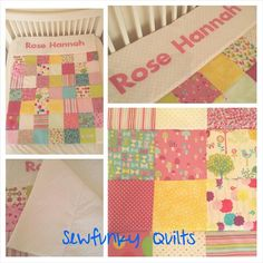 Cot Quilt for baby girl