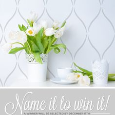 Cutting Edge Stencils Name it to Win it! Win this wall stencil pattern if we select your name. http://blog.cuttingedgestencils.com/name-it-and-win-it-a-new-moroccan-wall-stencil.html