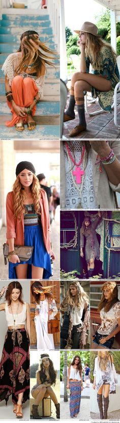 ::boho chic::bohemian style::maxi skirts::crop top::lace::paisley::flowy::frilly::pretty::my style::NoEllie0123