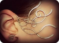 Elven Celtic Ear wrap Winwydden by Lewelyns on Etsy, €42.00