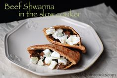 beef shwarma in the slow cooker