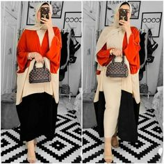Women's abaya cardigans came in various styles. You can find the embroidered abaya cardigan as well as the kimono styles. The hooded abaya cardigans exuded and Abaya Fashion, Suit Fashion, Kimono Fashion, Fashion Clothes, Fashion Outfits, Clothing Boutiques, Boutique Clothing, Hijab Collection, Woman Suit