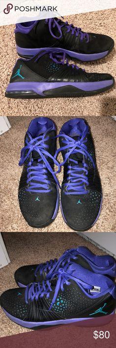 🏀Black and purple Jordan men's shoes🏀 Black and purple size 11 men's jordans shoes. Barely ever worn, great condition! Jordan Shoes Sneakers