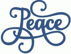 Silhouette Online Store: peace phrase - perfect flourish