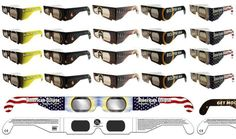 Solar Eclipse Glasses 20Pcs  Darker Lens Kids Aullt CE ISO Approved Eye Safe #AmericanPaperOptics