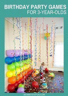 BIRTHDAY PARTY GAMES FOR 3 YEAR OLDS