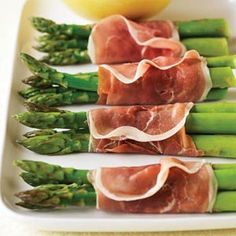 Prosciutto-wrapped Asparagus - The sauce, reminiscent of deviled eggs, makes an elegant accompaniment for asparagus.