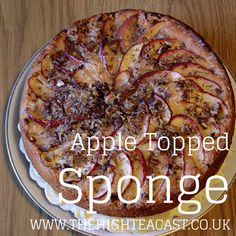 The great thing about a sponge is you can do anything you like to it. One of my favourite ways to jazz it up includes spice, apples and a few lovely pecans.