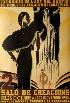 Salo de Creacions, Barcelona, 1935 - vintage poster