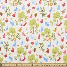 Woodlandia Flannelette Multicoloured 110 cm