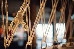 Westward Restaurant  Little Gull Seattle | Remodelista: strung rope serves as a screen of sorts