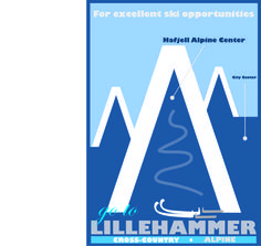 Vintage Tourism Poster:  Lillehammer, Norway