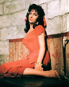 Gina Lollobrigida as Esmeralda in The Hunchback of Norte Dame
