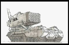 Iron-Heart Ind. Iron-Storm Heavy Missile Artillery Carrier.