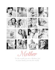Simple Mother's Day Gift Idea // Create a framed photo collage of Pictures with Mom! Tutorial included in the post.