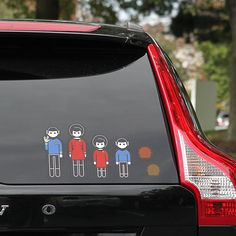 Star Trek Family Car Decals- Hahaha!!! This is what we need. I love the tribbles for pets. :D