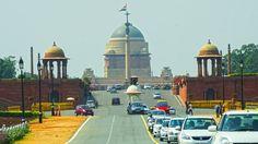 Located Near The Grand New Delhi Hotel, The Rashtrapati Bhavan (pronunciation Delhi Tourism, Delhi Hotel, India Gate, Places Worth Visiting, One Day Trip, Tourist Places, New Delhi, New City, Amazing Destinations