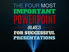 There are a million and one tips and tricks for using PowerPoint effectively, but what REALLY matters most? This presentation takes the 4 most important change… Power Point Presentation Tips, Presentation Skills Training, Presentation Software, Business Presentation, Presentation Folder, Presentation Design, Powerpoint Tutorial, Powerpoint 2010, Microsoft Powerpoint