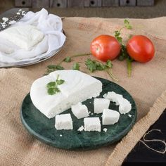 Just milk and vinegar to make this cheese at home.