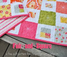 Inspiring Creations: Fair-and-Square Free Pattern and Video Tutorial