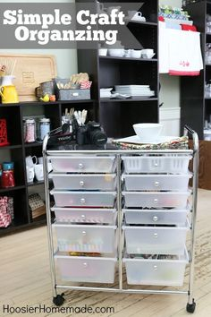 Tackle your craft collection and get organized with this Simple Craft Organizing project! Pin to your Organizing Board!