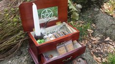 Pagan Wiccan Witch Box Starter Kit Traveling Alter  Click on the picture twice to take you directly to the site )O(