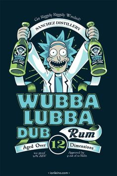 《Rick and Morty / Rick Sanchez》 Wubba Lubaa Dub Dub Rick And Morty Quotes, Rick And Morty Poster, Dragonball Anime, Rick I Morty, Wubba Lubba, Ricky And Morty, Der Joker, Animation, Iphone Wallpaper