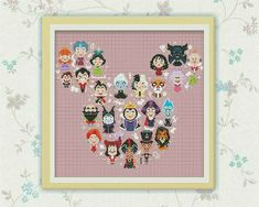 BOGO FREE Disney Mickey Villains Large Cross door ElCrossStitch