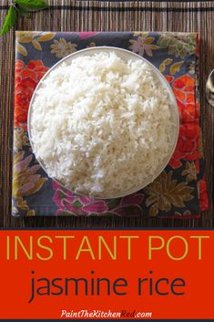 A step by step guide that shows you how to make Instant Pot Jasmine Rice. This recipe gives you perfectly cooked Jasmine rice every time, quick and easy. Instant Pot Jasmine Rice Recipe, Jasmine Rice Recipes, Cooking Jasmine Rice, Best Instant Pot Recipe, Instant Pot Dinner Recipes, Instant Pot Chinese Recipes, Asian Recipes, Pressure Cooker Rice, Instant Pot Pressure Cooker
