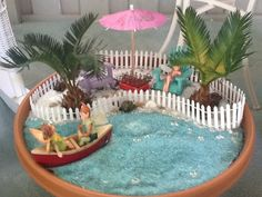 MiNiaTuRE BEaCH GaRDEN ___CustomerCreatedFairyGardens