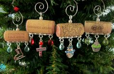 North Pole Wine Cork Christmas Ornaments by PleasantPresents